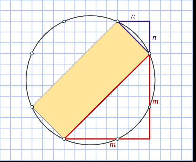 45 rektangel pythagoras cirkel
