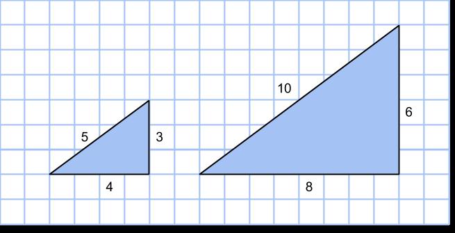 två pythagoreiska trianglar